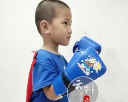 网购的拳击手套到货,儿子秒变拳王