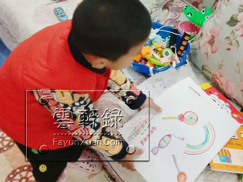 陪三岁半的云轩宝宝一起收拾画画用品.jpg